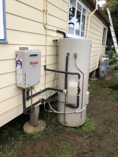 AFTER- Upgraded solar hot water system with gas boost.